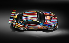 Картинка Цвет, Авто, Винил, BMW, Спорт, Машина, БМВ, Цвета, Арт, Art, GT2, Вид сверху, E92, BMW …