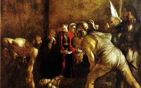 Картинка картина, Караваджо, мифология, Микеланджело Меризи да Караваджо, Погребение Святой Лючии