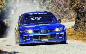 Обои Авто, Синий, Subaru, Impreza, Спорт, Машина, Гонка, WRX, Фары, Автомобиль, STI, WRC, Субару, Импреза, WRX ...