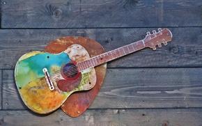 Картинка фон, стена, гитара