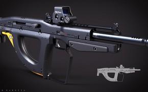 Обои bullpup, rifle, weapon, gun, concept, by drzoidberg96