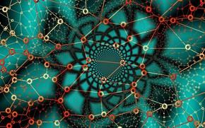 Картинка абстракция, узор, зелёный