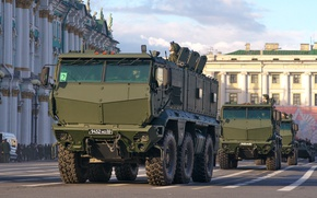 Обои парад, России, военная техника, Тайфун, универсальный, КАМАЗ-63968, повышенной защищённости проходимости, бронированный автомобиль