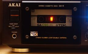 Обои AKAI GX-6, стерео, кассета, TDK SA-C90