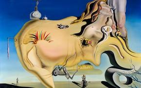 Картинка эротика, сюрреализм, картина, Сальвадор Дали, Salvador Dali, Лицо Великого Онаниста