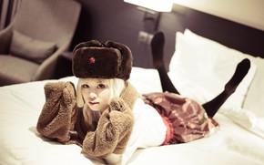 Картинка девушка, шляпа, азиатка