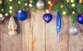 Картинка украшения, шары, игрушки, елка, Новый Год, Рождество, happy, Christmas, balls, wood, New Year, Merry Christmas, …