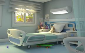 Картинка игрушки, кровать, помещение, палата, hospital