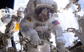 Обои НАСА, МКС, астронавт, Пегги Уитсон, США