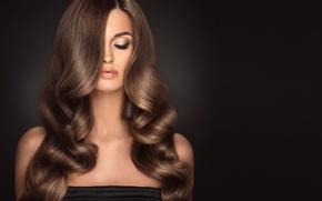 Картинка девушка, волосы, макияж, прическа, шатенка, длинные, София Журавец