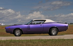 Обои 1971, Purple, Dodge Charger, Muscle classic, Hemi Ramcharger WS23