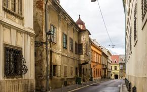 Картинка улица, дома, переулок, Хорватия, Загреб