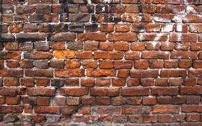 Обои wall, Red, bricks, pattern
