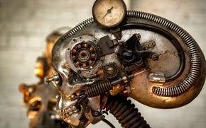 Картинка фон, механизм, робот