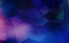 Картинка фиолетовый, поверхность, синий, розовый, треугольники, акварель, фигуры, blue, pink, purple, светло-розовый, темно-синий, ломанные, лазурный, lazur, …