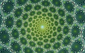 Картинка яркий, узор, зелёный