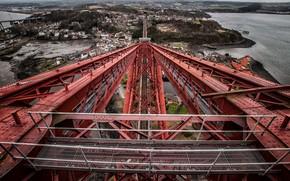 Картинка мост, город, Forth Bridge