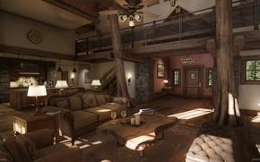 Картинка мебель, помещение, вход, daytime, Mountain Lodge