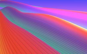 Картинка линии, краски, объем, слой