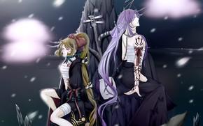 Картинка девушка, арт, парень, Vocaloid