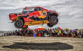 Картинка Песок, Авто, Спорт, Машина, Скорость, Люди, Гонка, Toyota, Hilux, Rally, Dakar, Дакар, Внедорожник, Ралли, Зрители, …