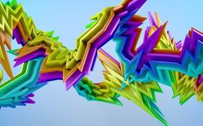 Картинка фон, разноцветные, фигуры