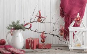 Картинка украшения, шары, елка, Новый Год, Рождество, подарки, Christmas, vintage, design, Merry Christmas, Xmas, decoration, gifts, ...