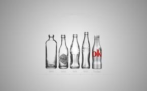 Картинка стекло, бутылка, Coca-Cola, эволюция, Кока-кола