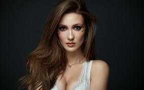Картинка взгляд, девушка, модель, волосы