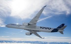 Обои Airbus, Аэробус, А350, A350-1000