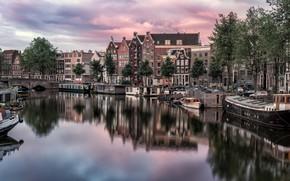 Картинка Амстердам, Нидерланды, Amsterdam, Голландия, Kromme Waal