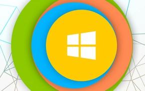 Обои операционная система, логотип, эмблема, гаджет, компьютер, windows