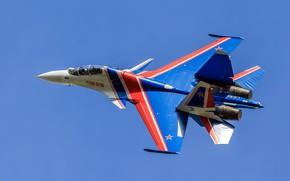 Обои истребитель, полёт, «Русские Витязи», Су-30СМ
