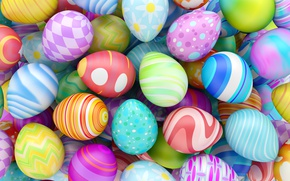 Обои Пасха, Easter eggs, Happy Easter, spring, eggs