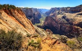 Картинка Юта, США, Zion National Park, Washington, Utah