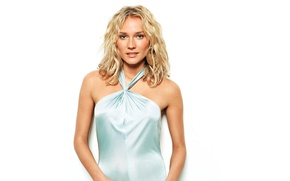 Картинка взгляд, девушка, улыбка, актриса, блондинка, Diane Kruger, Дайан Крюгер
