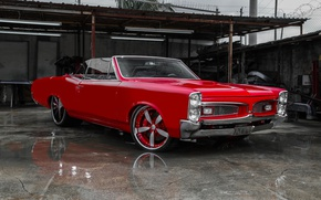 Картинка car, red, coupe, 1967, Pontiac Gto