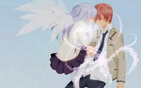 Картинка арт, двое, Angel Beats!, Ангельские ритмы