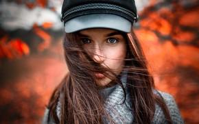 Обои взгляд, ветер, губки, локоны, Tomas Bark, Aure