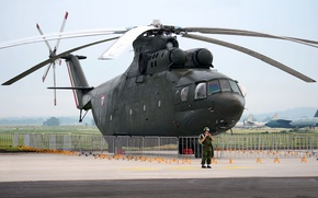 Картинка вертолёт, Ми-26, Mi-26, ВВС Мексики, Mexican Air Force
