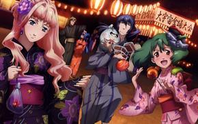 Картинка girl, yukata, mecha, anime, fish, Macross, japonese, Macross Series, The Super Dimension Fortress Macross