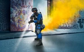 Картинка M4, USA, тактический бронежилет, painting, SWAT, Officer