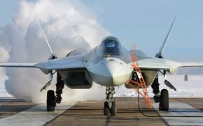 Картинка Т-50, ПАК ФА, фронтовой авиации, истребитель пятого поколения, Су-57, ОКБ имени П. О. Сухого, Перспективный ...