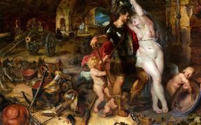 Картинка картина, Питер Пауль Рубенс, аллегория, Возвращение с Войны, Pieter Paul Rubens