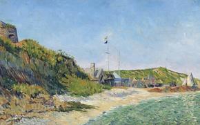 Картинка пейзаж, картина, Поль Синьяк, Пор-ан-Бессен. Пляж