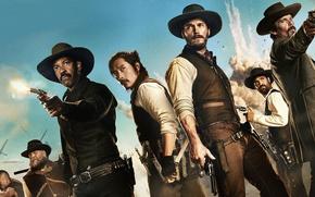 Обои The Magnificent Seven, Великолепная Семерка, Крис Пратт, Chris Pratt, Дензел Вашингтон, Denzel Washington