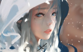 Обои Девушка, Art, Ghostblade, Wlop