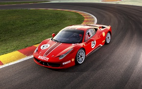 Обои суперкар, Ferrari, 458, Challenge, феррари