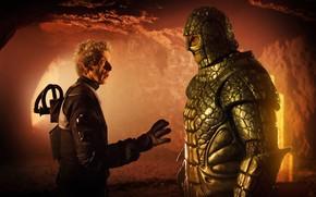 Картинка фантастика, скафандр, марс, пещера, Doctor Who, Доктор Кто, рептилия, Peter Capaldi, Двенадцатый Доктор, Twelfth Doctor, …