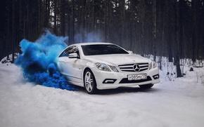 Картинка car, машина, авто, city, туман, гонка, тачка, mercedes, спорт кар, автомобиль, need for speed, мерседес, ...